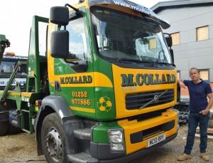 Robert Collard with M Collard lorry_lowres