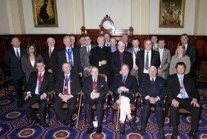 Lord Snowdon (front row) at 2007 NFDC AGM